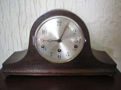 Antique 8 Day Napoleon Hat Westminster Chimes  Mantle Clock For Repair