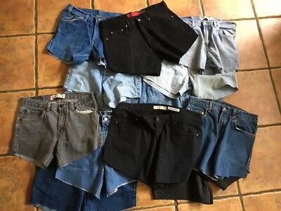 Levi`s Vintage Denim Shorts Joblot Lot X 25 Pairs Wholesale Bundle Mens Womens