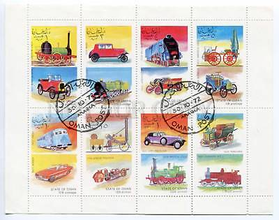 266513 STATE of OMAN 1972 used S/S CARS TRAIN