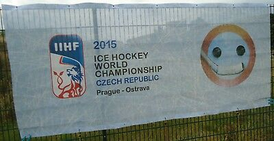 Eishockey Fahne Banner 2015 Ice Hockey World Championship Czech Republic Prag Ostarva #16