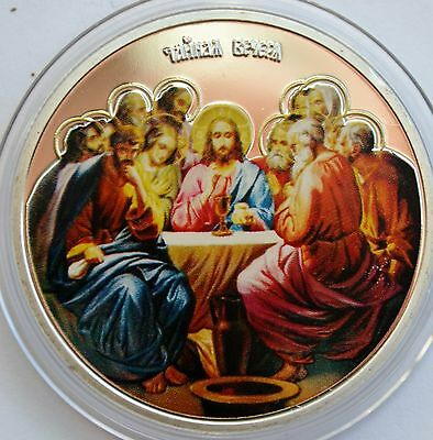Niue 2 dollar 2013, The Last Supper with Jesus, Colored Coin, Restrike