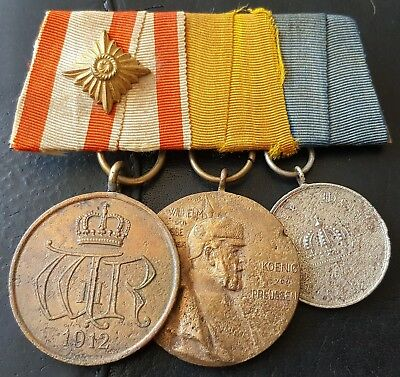 ✚6940✚ German mounted group General Honour Decoration Centenary Medal pre WW1