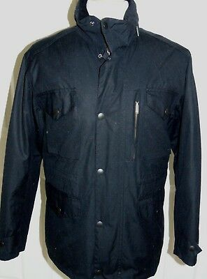 NWT  Barbour Sapper  Hooded Wax Cotton Corduroy Trim  Quilted Jacket Medium  NEW