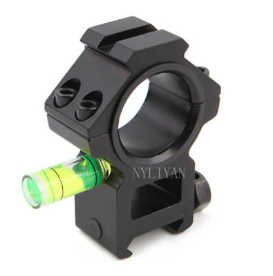 25MM/30mm Ring Scope Mount&Spirit Bubble Level for 20mm Picatinny Rail Rifle