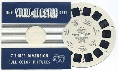WINDSOR CASTLE Royal Residence England 1948 Belgium-made ViewMaster Reel 1013