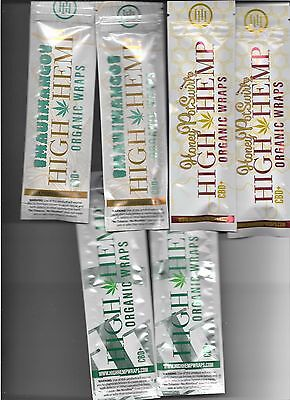 Variety 6 Pack Of High Hemp 100% Organic Vegan No Tobacco Mango Honey Natural
