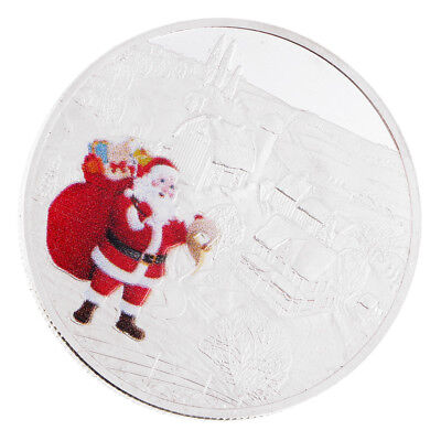 Christmas Santa Claus & Snowscape Commemorative Coin Toy Unique Xmas Gifts