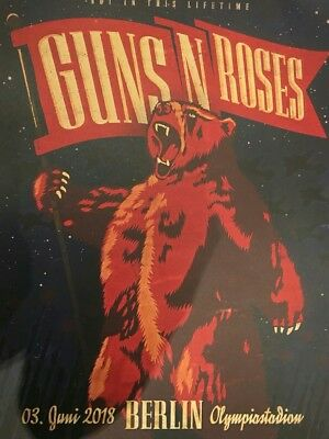 Guns N Roses Lithograph Poster Berlin 2018 Not in this lifetime tour  56/150