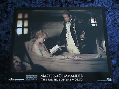 MASTER AND COMMANDER lobby card #7 RUSSELL CROWE