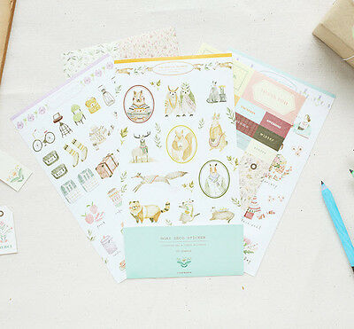 Mori Stickers for Planner Diary Calendar Scrapbooking Index Label Cute Decor