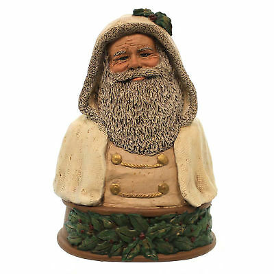 All Gods Children FATHER CHRISTMAS BUST WHITE Polyresin Santa Nicholas 1775