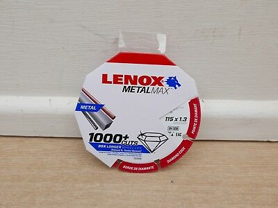 Lenox Metalmax 115Mm X 22.2Mm Angle Grinder Diamond Metal Cutting Disc 2030865