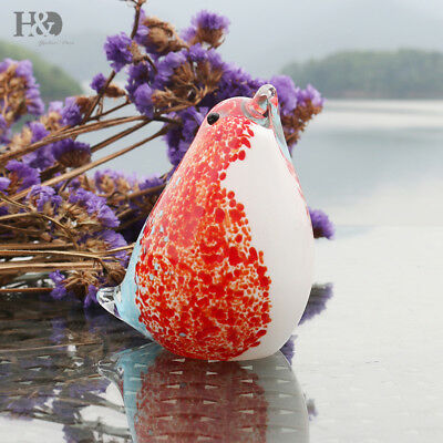 Hand Blown Liu Li Cute Birds Animal Wedding Art Glass Crafts Office Decor Gifts