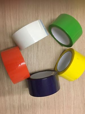 Parcel Packing Tape Assorted Color Packing Packaging Select Color & Roll Qty