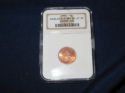 1995 Lincoln Cent Double Die Obverse NGC MS67RD Gem BU M1006