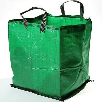 Heavy Duty Large Green 120L Garden Waste Bags -  Refuse Sacks with Handles