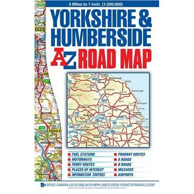 Yorkshire & Humberside Road Map (Street Atlas) - Map NEW Geographers A-Z 2014-11