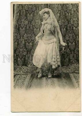 264961 Harem BELLY DANCER Vintage postcard