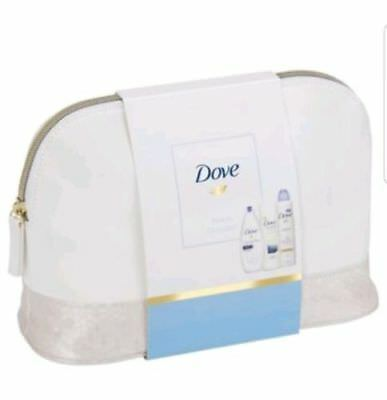 New Dove Gift Set Beauty Collection Washbag Gift Set Body Wash Lotion & Antipers