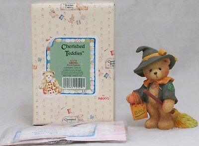 Cherished Teddies Gretel Witch Figurine Halloween Bear Figure Enesco Mint 912778