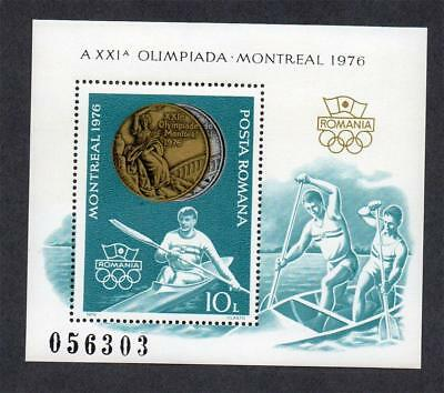 Romania Mnh 1976 Ms4248 Olympic Games - Montreal. Romanian Medal Winners