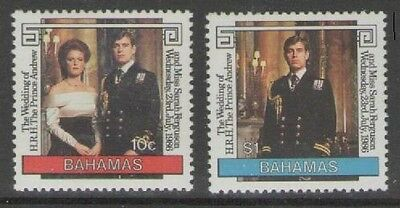 Bahamas Sg756/7 1986 Royal Wedding Mnh