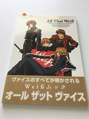 "Weiss WeiB Kreuz Book ""All That Weib"" Japanese Anime US SELLER"