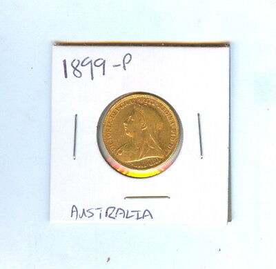 1899-P Australia Sovereign Gold Coin Low Mintage