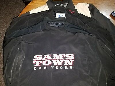Lot of 5 Vintage Sam's Town Las Vegas Nevada Casino Jackets Size L
