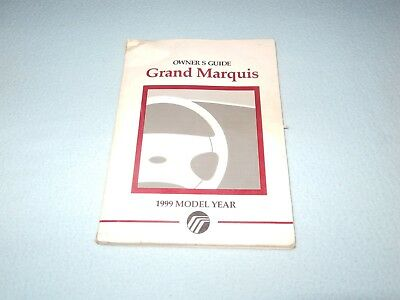 mercury grand marquis owners manual 1999