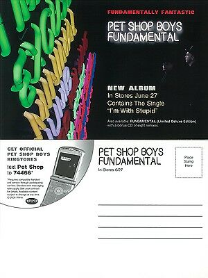 PET SHOP BOYS - FUNDAMENTAL  - promotional card (lot of 5) - 4 x 6 inches