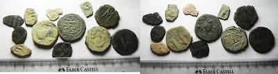 ZURQIEH -as5152- AS FOUND. BYZANTINE . LOT OF 12 AE COINS