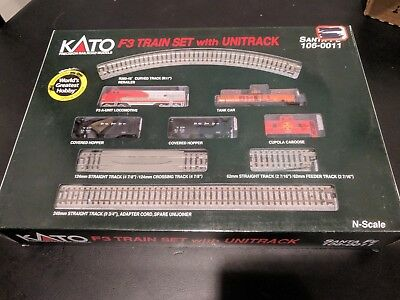 Kato, N Scale, F-3 Santa Fe Train Set With Unitrack, # 106-0011