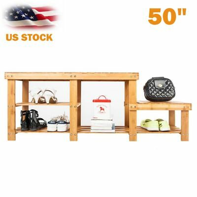 Swell Real Bamboo Shoe Rack Bench Shoe Storage Shelf Boot Ocoug Best Dining Table And Chair Ideas Images Ocougorg