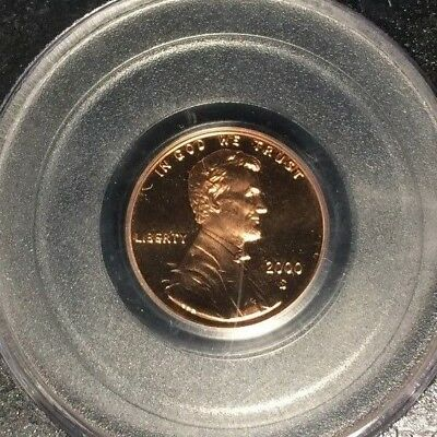 2000-S Lincoln Memorial Cent ~ Pcgs Pf69Rd Ultra Deep Cameo Proof  Ref#S4