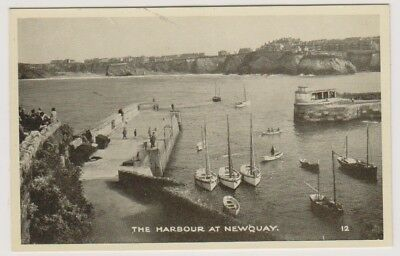 Cornwall postcard - The Harbour, Newquay (A1384)