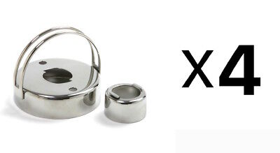 Norpro Stainless Steel Cookie Donut Biscuit Cutter Doughnut Maker 3496 (4-Pack)