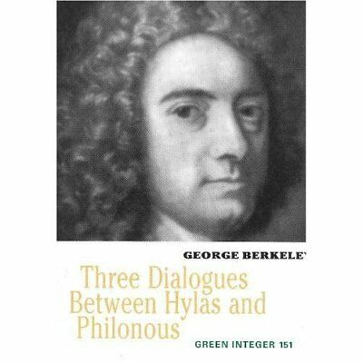 Three Dialogues Between Hylas and Philonous (Green Inte - Paperback NEW Berkeley
