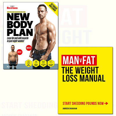 Man v Fat Weight-Loss Manual and New Body Plan 2 Books Collection Set NEW Pack