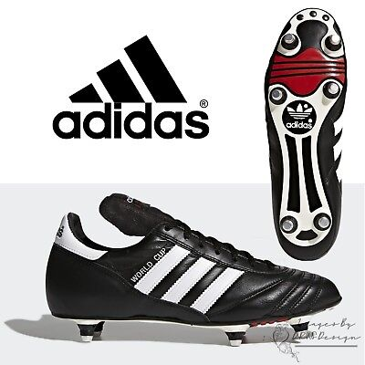 free shipping dff52 61ed6 adidas World Cup Pro Men s Football Boots Black Leather Classic Soccer Boot