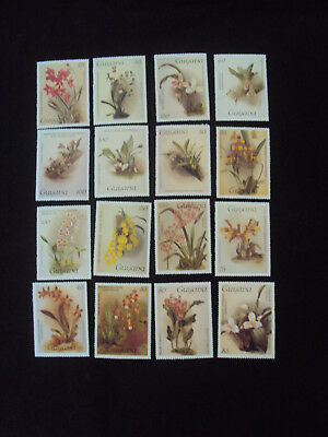 Guyana 16  Orchids Stamps Series 1 & 2 Unmounted Mint MNH D
