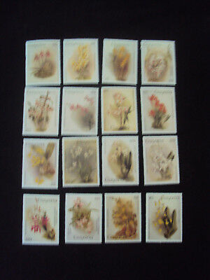 Guyana 16  Orchids Stamps Series 1 Unmounted Mint MNH C