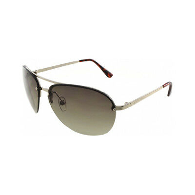 e6eb7e300f Michael Kors Kai Womens Silver Brown MK Aviator Sunglasses Shades M2068S 045