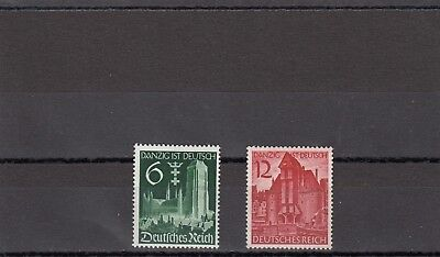 Germany - Sg702-703 Mnh 1939 Occupation Of Danzig