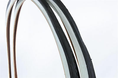 PAIR OF BIKE TYRES 650x28A 26 x 1 3/8 (590x28) WHITE WALL RARE TYRES FOR VINTAGE