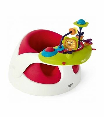 Mamas & Papas Baby Snug and Tray with Activity Toys in Red Brand New