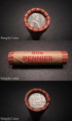 (50) 1943 PDS Lincoln Wheat Steel Penny Roll ~ Circulated US Pennies Coin Lot