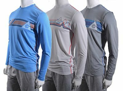Gerry Stretch Mens Performance Quick-Dry Sun Protection Long Sleeve Retro Shirt