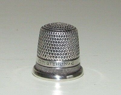 Antique Sterling Silver Thimble Stern Brothers Anchor Hallmark Size 8