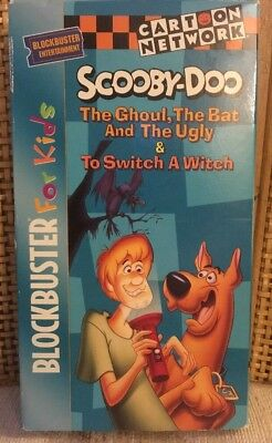 """Scooby-Doo"" 1996 VHS Cartoon Network Blockbuster For Kids Rare Release"